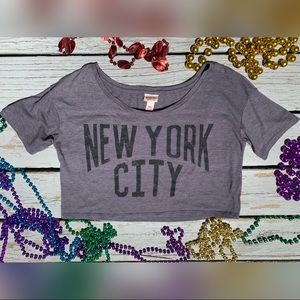 Mossino Supply Co. New York City Gray Crop Top
